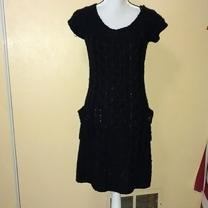 XL rue 21 black knit dress or cover up